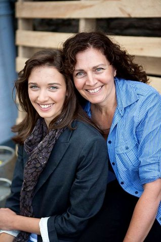 My beautiful sister Deborah on the right with her gorgeous daughter Sophie.